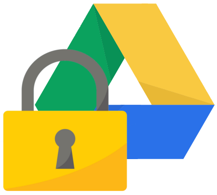 Padlock on Google Drive logo